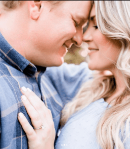 A blue themed proposal photoshoot by Lily Hayes Photography