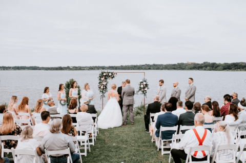 Wedding photography at a ceremony by Lily Hayes